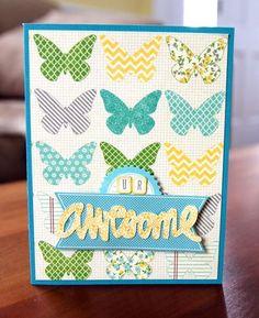 U R Awesome Card by Paula Gilarde via Jillibean Soup Blog