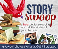 Story Swoop | Masterful Scrapbook Design. Oh wow. This is good. REALLY GOOD. This (FREE!!!) tool helps you take a photo and turn it into a beautiful story. A story you didn't even know you had. I just made myself cry writing a simple little story about our Friday morning. It adds so much depth to your memory keeping.