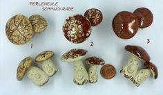 Pilze / Mushrooms and toadstool Rabe, Stuffed Mushrooms, Ceramics, Vegetables, Food, Mushrooms, Schmuck, Stuff Mushrooms, Ceramica
