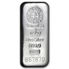 1 kilo Silver Bar - Argor/Heraeus (Switzerland)
