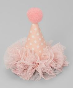 Me Oui Pink Party Hat Hair Clip   zulily