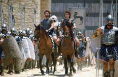 Eric Bana and Orlando Bloom in Troy Troy Movie, I Movie, Troy Achilles, Trevor Eve, Tyler Mane, Vincent Regan, Julian Glover, James Cosmo, Nathan Jones