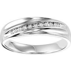 $58.00 Forever Bride 1/10 Carat T.W. Sterling Silver Men's Comfort Feel Diamond Ring
