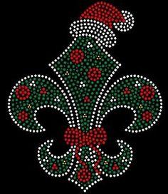 Christmas Fleur de Lis