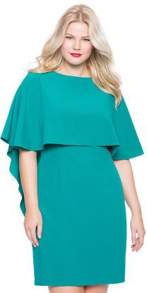 Plus Size Studio Cascade Capelet Dress
