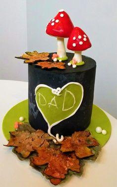 Chalkboard cake for Daddy   by Clara