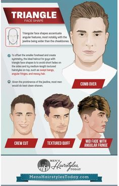 Men S Hairstyles Haircuts For Triangle Face Shapes Face Shape