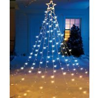 outdoor christmas lighted star xmas light tree hanging decoration yard string fu