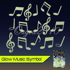 Glow in Dark Music Note Symbol Decal Art Wall Sticker Baby Kid Room Decor Nurser | eBay