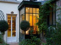 V randas escalier jardin on pinterest verandas atelier and conservatory - Cuisine verriere atelier ...