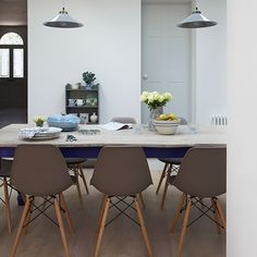 Neutral dining room with grey chairs | Decorating | housetohome.co.uk