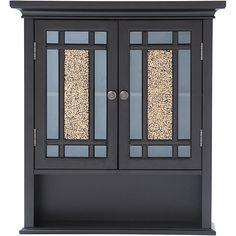 Wall Mount Cabinet 3 Shelf Study Kitchen Bedroom Kitchen Storage Organizer Brown #EHF