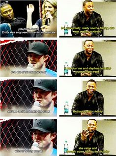 Stephen and David about Emily/Felicity <3 She is definitely an asset to the show and one of my favourite characters