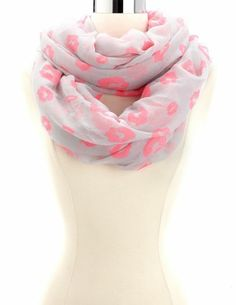 Lips Print Infinity Scarf: Charlotte Russe