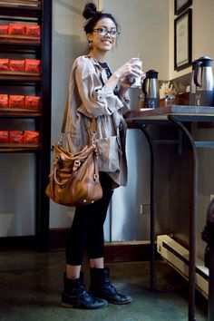 """How would you describe your style?  """"If I had to describe my personal style, I'd say that I'm a 'comfortable, San Fran girl with classy spontaneity.' I always like to make a statement wherever I go by showing my personality through my clothes. I'm not just this dainty ballerina that is completely consumed by her work. I like to feel good and have fun, and the first step in doing that is choosing what you're gonna wear.""""  Jeraldine is wearing a jacket from a flea market in London, Urban…"""
