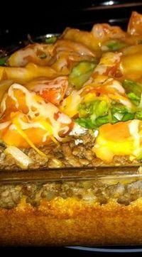 Taco Cornbread Casserole~ simple, delicious, and reheats well! Taco Cornbread Casserole~ simple, delicious, and reheats well! Mexican Cornbread Casserole, Beef Casserole, Casserole Dishes, Casserole Recipes, Mexican Dishes, Mexican Food Recipes, Dinner Recipes, Dinner Ideas, Fun Recipes