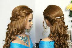 Romantic prom hairstyle for long hair. Романтическая прическа на выпускн...