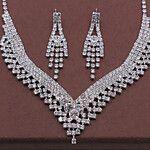 Women's Jewelry Set Rhinestone Include Silver For Anniversary Birthday 2019 - ARS $473.91 Women's Jewelry Sets, Wedding Jewelry Sets, Cheap Jewelry, Wedding Accessories, Women Jewelry, Silver Rhinestone, Rhinestone Earrings, Silver Jewelry, Anniversary