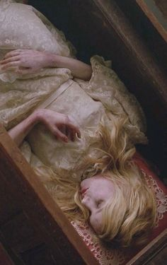 How sad the day when in sportive jest, she hid from her lord in the old oak chest.  It closed with a spring and a dreadful doom, and the bride lay clasped in a living tomb.