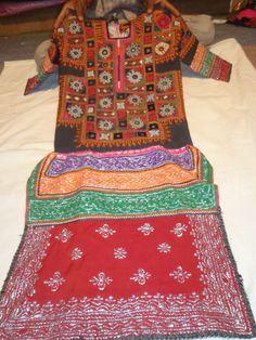 VINTAGE mirror work dresses piece from india by jaisalmerhandloom, $199.00