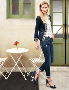 What you need, now.  #whbm #spring #wearwhatworks; the jeans, the jacket, the shoes, the top....wow!!!