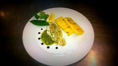 Merluzzo in salsa verde e polenta brustolà #ristorante Monaco #verona