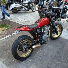 Cool honda nx 650 dominator street tracker #dominator #4h10 #streettracker #hondadominator #dirttrack @sideburnmag