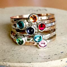 Sterling Silver Mothers Rings on Pinterest