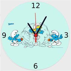Şirinler - İp Atlamaca - Kendin Tasarla - Duvar Saati 27cm