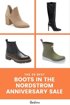 These boots and booties are bound to make it to your wish list during the Nordstrom Anniversary Sale preview. #NordstromAnniversarySale #Nordstrom #boots #booties Block Heel Boots, Nordstrom Anniversary Sale, Cool Boots, Suede Boots, Brown Boots, Knee High Boots, Riding Boots, Chelsea Boots