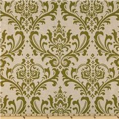 olive green fabric wall
