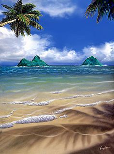Hawaiian Artists Showcase - Lani Kai - Giclee Fine Art Prints by Steve Sundram