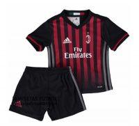 2016/2017 AC Milan Home Football Kids Shirt