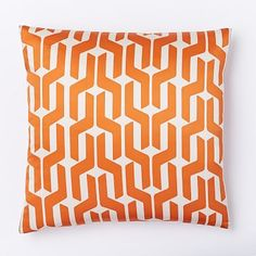 Silk Stacked Geo Pillow Cover - Sweet Potato #westelm