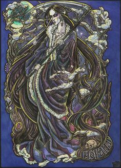 Morana - Slavic goddess associated with death, winter and nightmares --- by ~Righon on deviantART