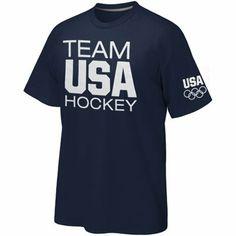 USA Olympics Hockey Basic T-Shirt Team Usa Hockey e3786f8b9