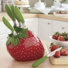 6-Piece Strawberry Knife Set