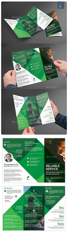 Cleaning Services Brochure Template Design by StockLayouts - services brochure