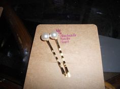 One of a kind Handmade pearl hair bobby pins by EMTWTT on Etsy, $5.60
