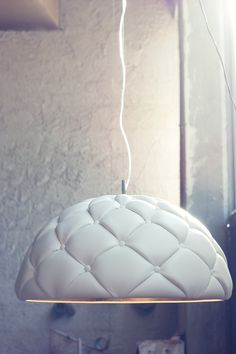 Clamp—Leather suspension lamp by Enrico Zanolla and Andrea Di Filippo enricozanolla.com
