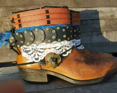 Upcycled REWORKED vintage boho COWBOY BOOTS by TheLookFactory
