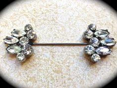 Vintage Rhinestone Stick pin Brooch Art Deco by JNPVintageJewelry