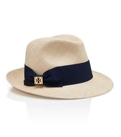 Classic Grosgrain Fedora : Women's Designer Hats | Tory Burch | Womens Hats, Scarves & Gloves