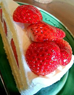 #cake #strawberry #yummy