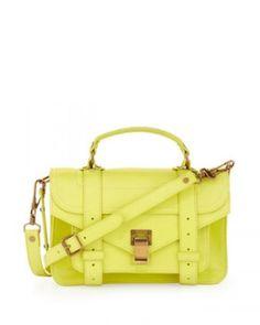 Proenza Schouler PS1 Mini Satchel Bag in Lemon worn by Jules on Friends With Better Lives. Shop it: http://www.pradux.com/proenza-schouler-ps1-mini-satchel-bag-in-lemon-28616?q=s61