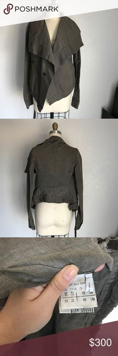 Rick Owens draped jacket Great condition. Material feels like a sturdy cotton blend. Rick Owens Jackets & Coats Utility Jackets