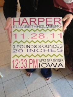 What more can I say...: Harper's Sign  #baby #sign #silhouette #baby stats