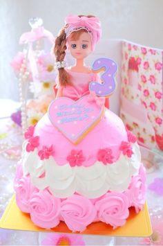 ドールケーキ アナ雪ケーキ テッドケーキ 不思議の国のアリスケーキ ダッフィ立体ケーキ