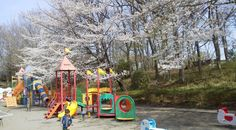 Paddling pool and wading stream. 1 hour. 北本市子供公園 Saitama above kawagoe. Has those jumping dome trampolines.