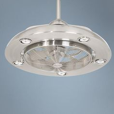 Possini Euro Segue Brushed Nickel Finish 5-Light Ceiling Fan